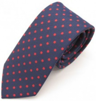 Navy Red Dots