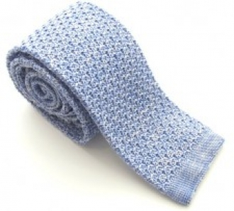 Blue Knitted Silk