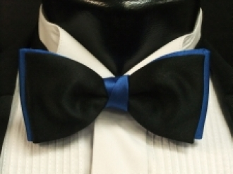 Blue & Black Bow
