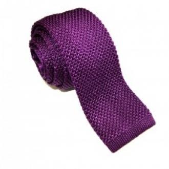 Purple Knitted Silk